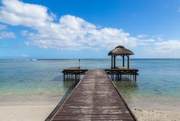 Steg ins Meer flic en flac mauritius