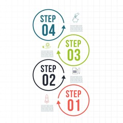 Infographic Template. Data Visualization. Can be used for workflow layout, number of options, steps, diagram, graph, presentation, round chart and web design. Vector illustration