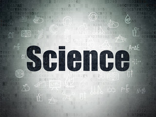 Science concept: Science on Digital Data Paper background