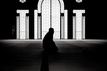 Muslim praying in a mosque