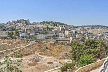 Streets of Jerusalem. Walking through Jerusalem.