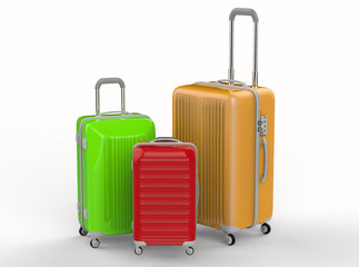 colorful luggages