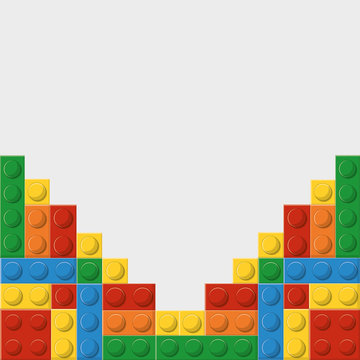 Lego concept represented by abstract design. Colorfull and flat illustration