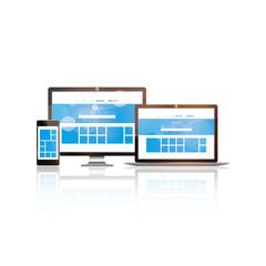 Vector set of Modern Digital devices,