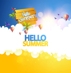 Abstract Summer background illustration.