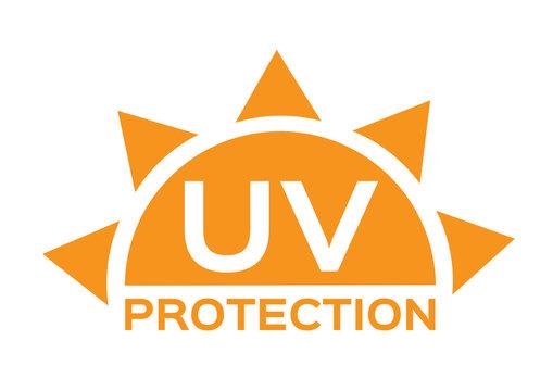 uv protection logo and icon , 6 uv sets
