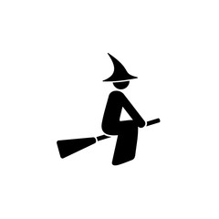 Witch on Broomstick Icon