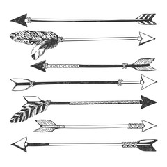 Arrow set in Native American Indian style.