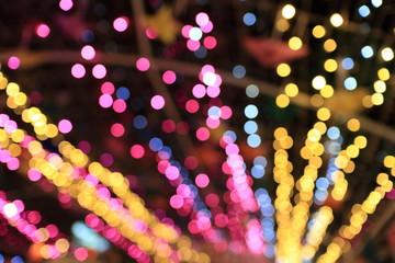 Lighting in the city defocused bokhe