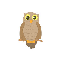 Halloween owl icon in cartoon style