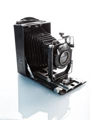 old technology, vintage photo camera