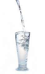 Drink water on white