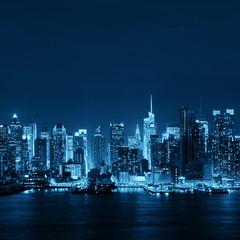 Fototapete - Midtown skyline over Hudson River