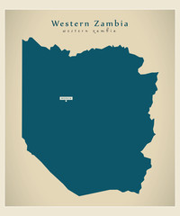 Modern Map - Western Zambia ZM