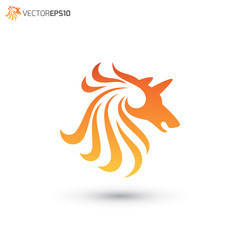 Abstract Horse Logo Concept