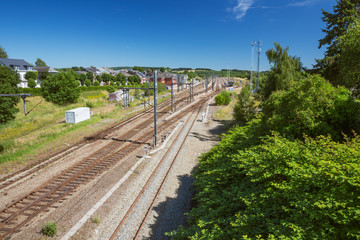 Overlooking Gouvy Station. The bridge from where this photo was taken was several times destroyed during World War II.