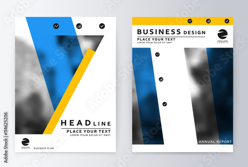 layout design template annual report brochure business flyer