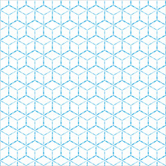 blue geometric dot line pattern background
