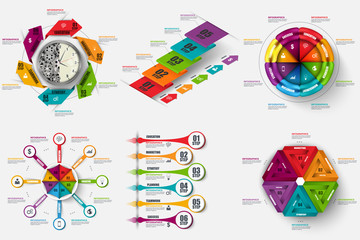 Set of infographic vector design template