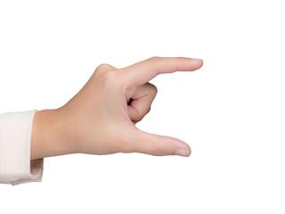 businesswoman's empty hand