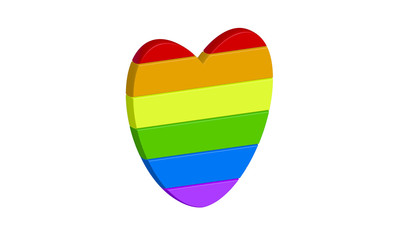 hearts with gay pride colors