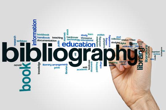 Bibliography word cloud