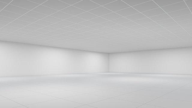 Leeres Büro als Hintergrund ohne Fenster