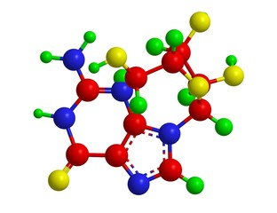 Molecular structure of guanosine