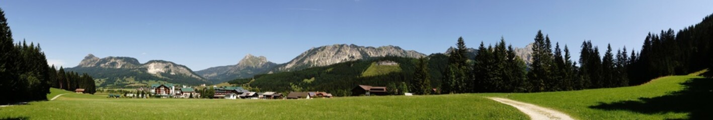 Panoramic Picture Of The Tyrolean Alps