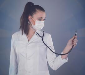 Stethoscope and nurse