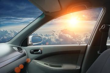 Fotobehang - Interior of fly car