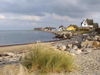 Die Landzunge Graswarder in Heiligenhafen an der Ostsee