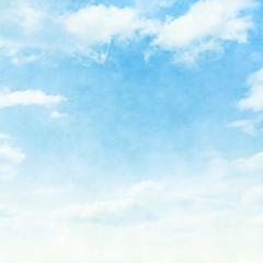 Blue sky in grunge style.