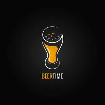 beer glass party time concept design background