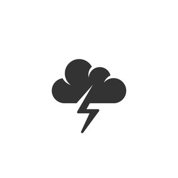 Vector Storm icon isolated on a white background