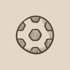 Soccer ball sketch icon.