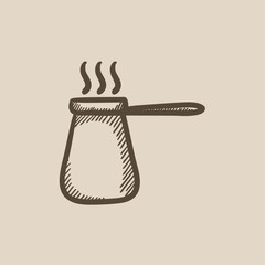 Coffee turk sketch icon.