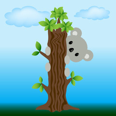 animal koala cartoon theme elements..