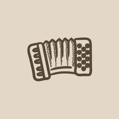 Accordion sketch icon.