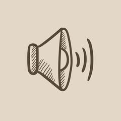 Speaker volume sketch icon.