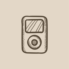 MP3 player sketch icon.