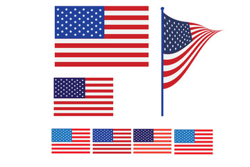 Celebrating the Fourth Of July. Independence day July 4th.   , American Flag Vector illustration