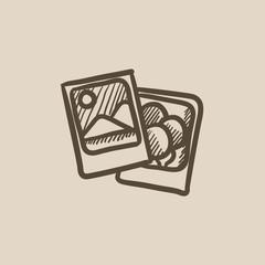 Photos sketch icon.