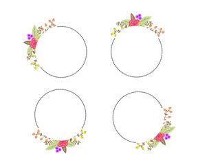 floral wedding set with beautiful flower