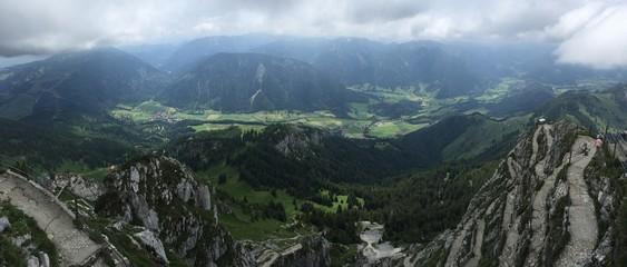 Aussicht auf Bayrischzell von der Aussichtsplattform auf dem Wendelstein