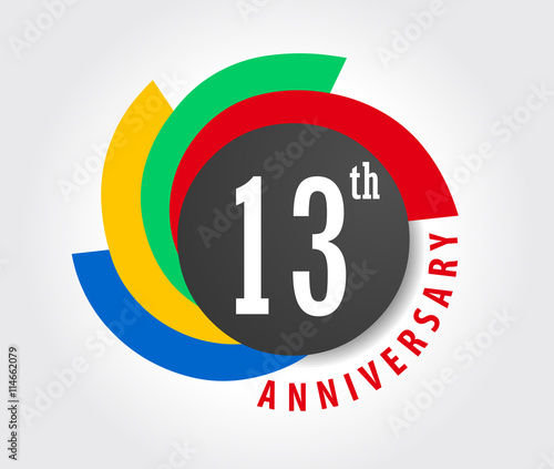 13th Anniversary Celebration Background 13 Years Anniversary Card