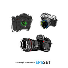 Camera photography vector set collection illustration. Logotypes