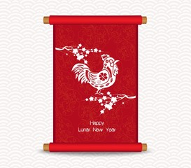 Chinese new year. Traditional Chinese handscroll of painting