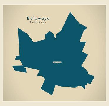 Modern Map - Bulawayo ZW