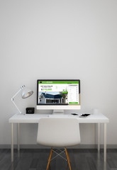 clean workspace with Real Estate website